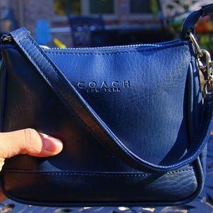 Navy Mini Coach Handbag